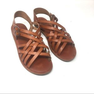 American Eagle Brown Leather Sandals 8 /z